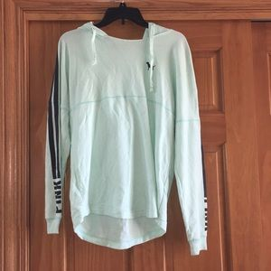 PINK teal long shirt tee